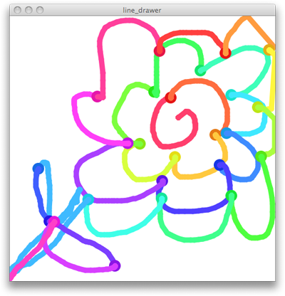 a doodle made by our Processing app